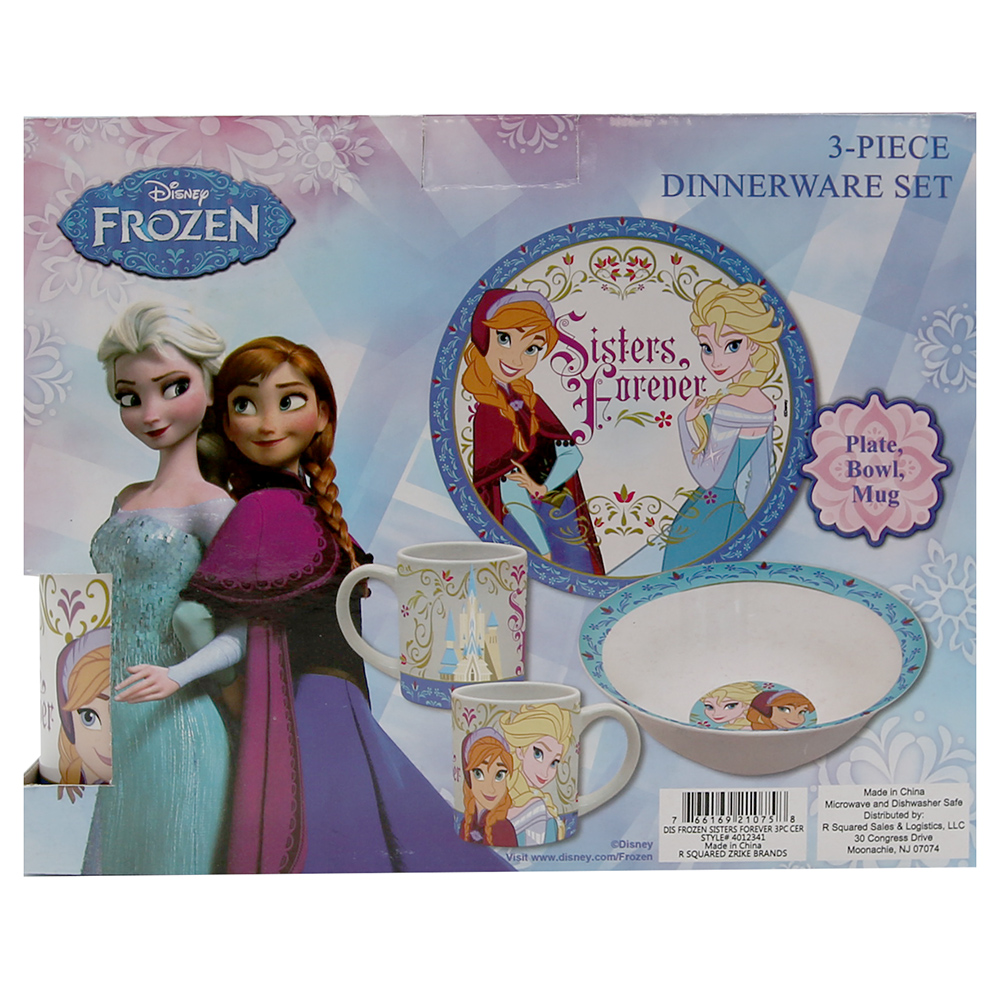 Disney Frozen Sisters Forever 3-Piece Dinnerware Set Multi-Colored - Walmart.com  sc 1 st  Walmart.com & Disney Frozen Sisters Forever 3-Piece Dinnerware Set Multi-Colored ...