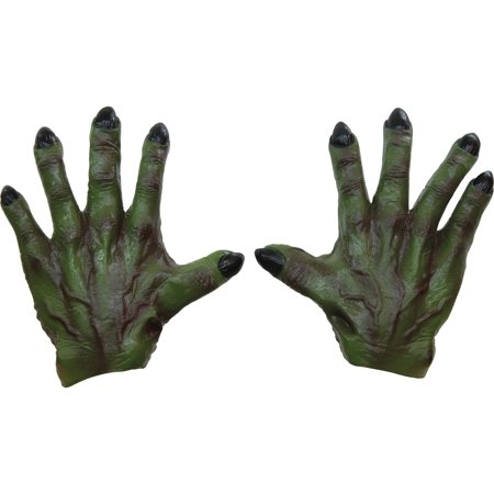 Green Monster Latex Hands Adult Halloween Accessory - Halloween Ghoulish Appetizers