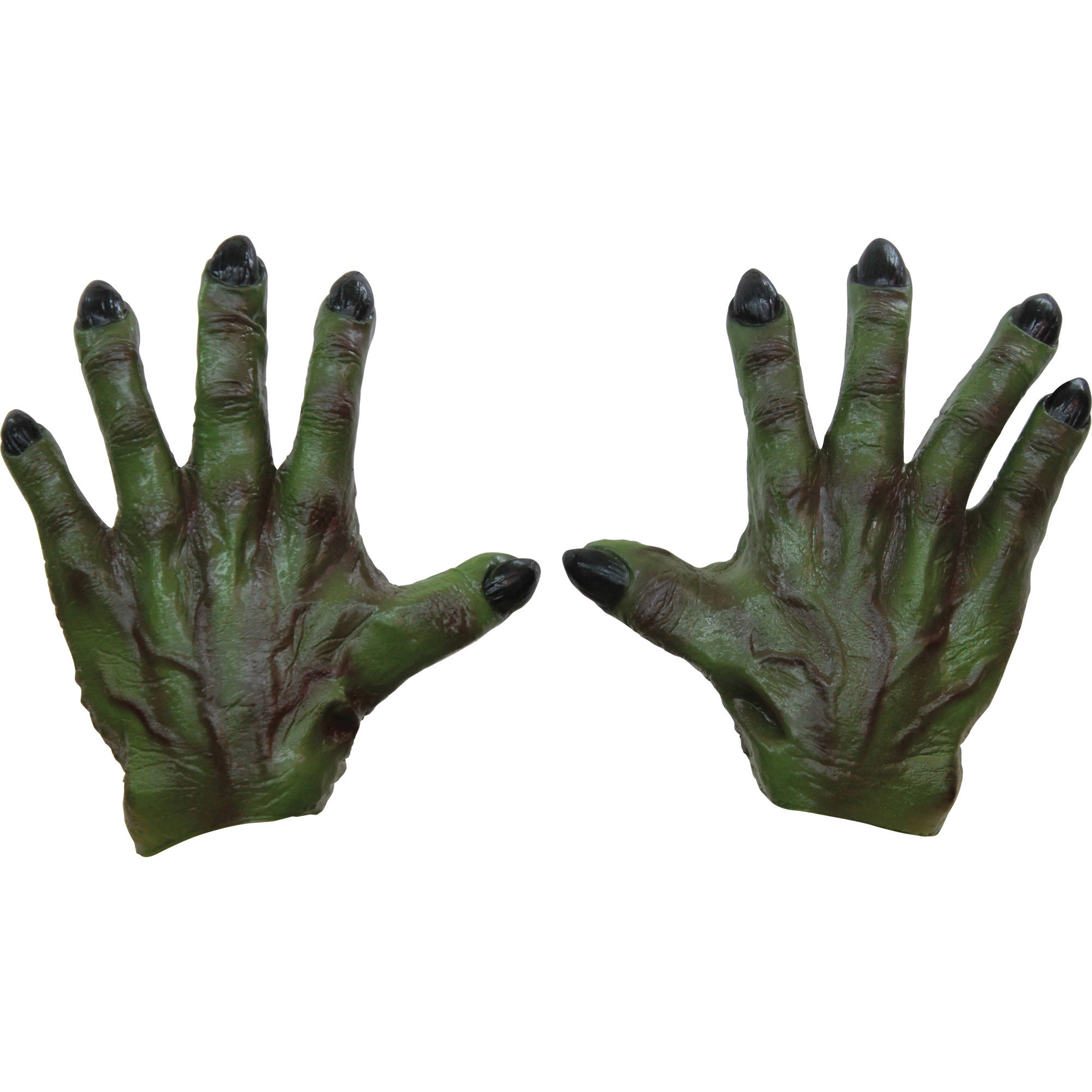 Green Monster Latex Hands Adult Halloween Accessory
