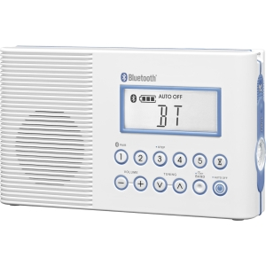 FM/AM BT WATERPROOF RADIO 10 PRESETS CLOCK SLEEP TIMER