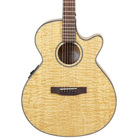 Mitchell Mx400 Exotic Wood Acoustic Electric Guitar Quilted Ash Burl