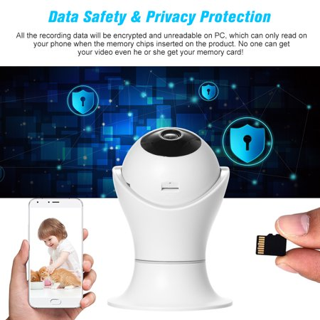 1080P WiFi IP camera 360 Degree Panoramic Navigation Pan/Tilt Wireless Camera CCTV Baby Monitor WiFi Camera for Baby/Nanny/Elder/Dog/Pets Monitoring with APP, Pan/Tilt, 2-way Audio, Motion Detection H - image 6 of 7