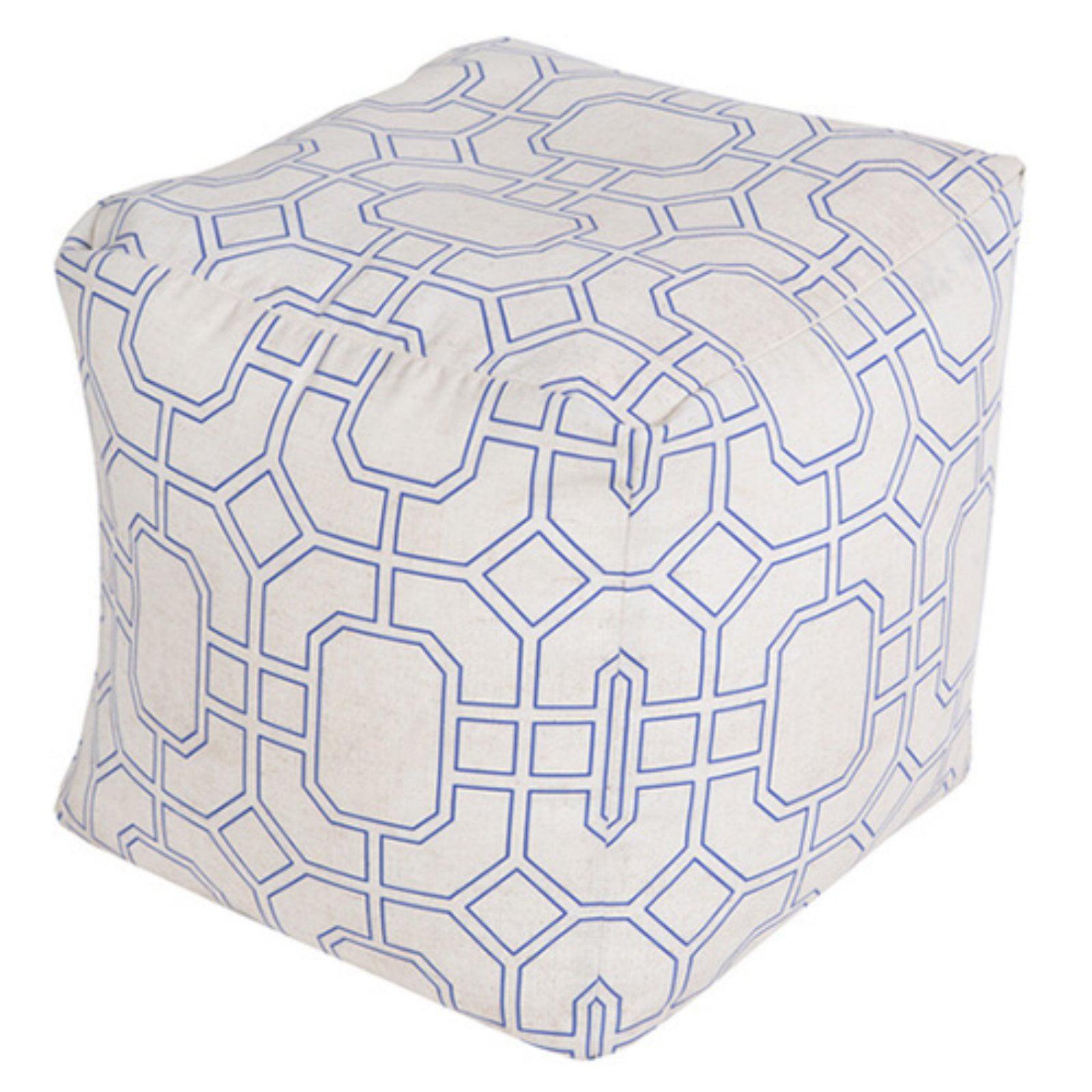 Surya 20 x 20 in. Geometric Iris Cube Pouf by Surya