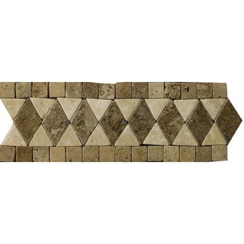 Emser Tile Natural Stone 12'' x 4'' Pisa Travertine Listello