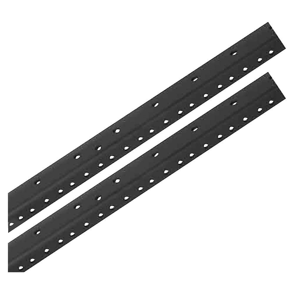 Raxxess Rack Rails (Pair) Black 12 Space