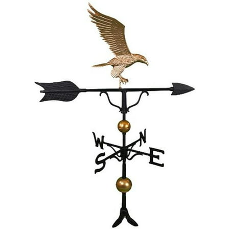 (500 Series 52 In. Deluxe Gold Full Bodied Eagle Weathervane)