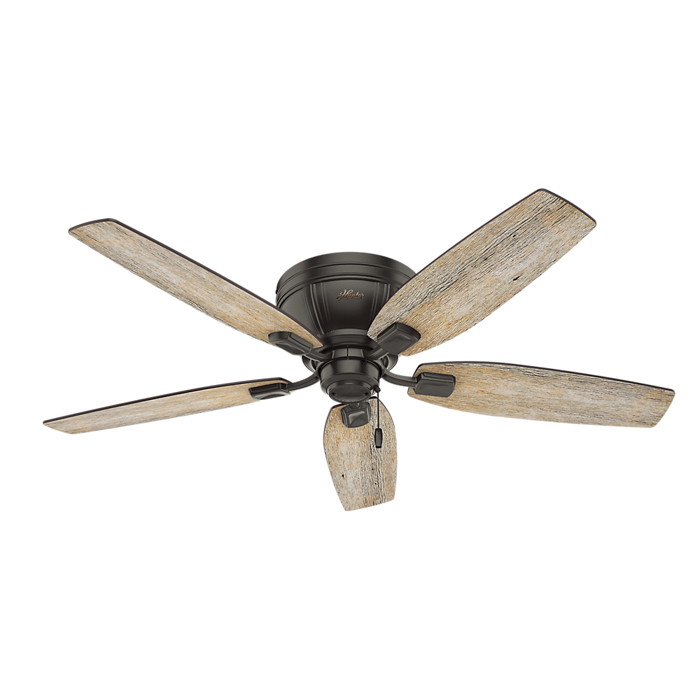 Hunter Summerlin 48 Noble Bronze Ceiling Fan With Light: Product Features: