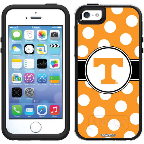 University of Tennessee Polka Dots 2 Design on OtterBox Symmetry Series Case for Apple iPhone 5/5s