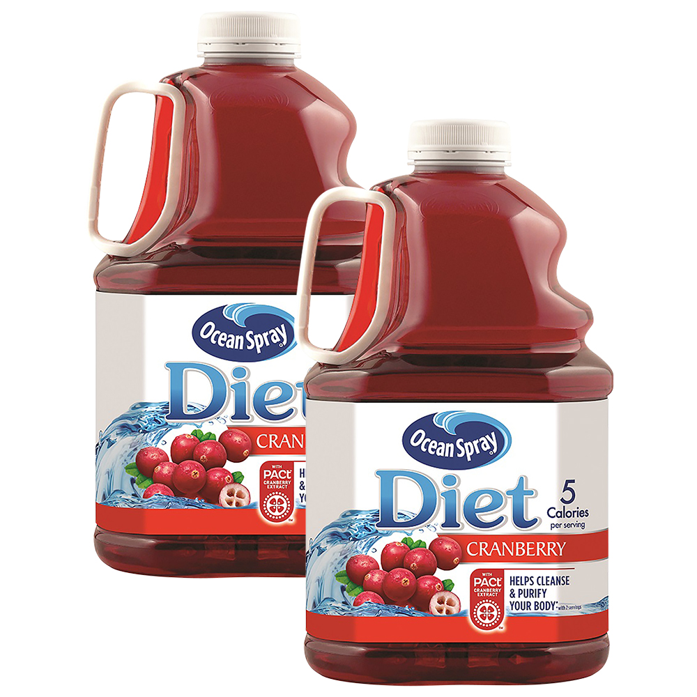 (2 Pack) Ocean Spray Diet Juice, Cranberry, 101.4 Fl Oz, 1 Count