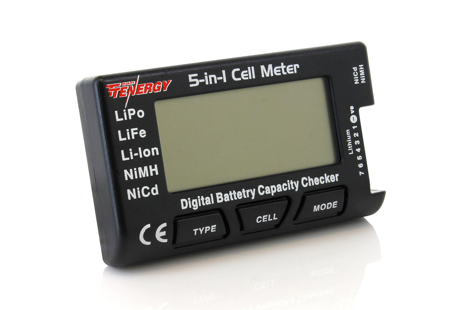 LiFePO4 Li-ion//NiCd//NiMH IFLYRC 5-in-1 RC Cell Meter Intelligent Battery Meter Digital Battery Capacity Battery Checker Battery Balancer for LiPo
