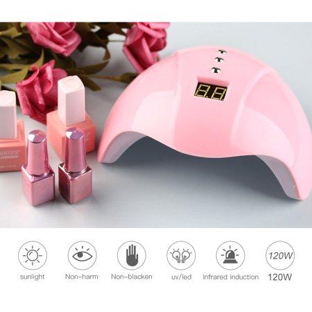 120w led uv fast drying nail polish dryer lamp gel acrylic