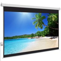Best Choice Products 100in Ultra HD 1:3 Gain Indoor Remote Control Widescreen Wall Mounted Projector Screen for Home, Cinema, TV, Theater, Office w/ 4:3 Aspect Ratio Display, White