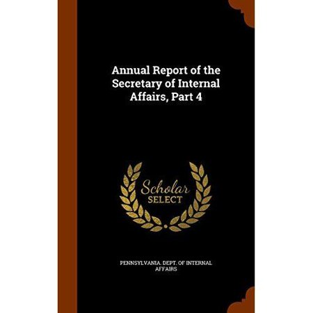 Annual Report of the Secretary of Internal Affairs, Part 4 - image 1 of 1