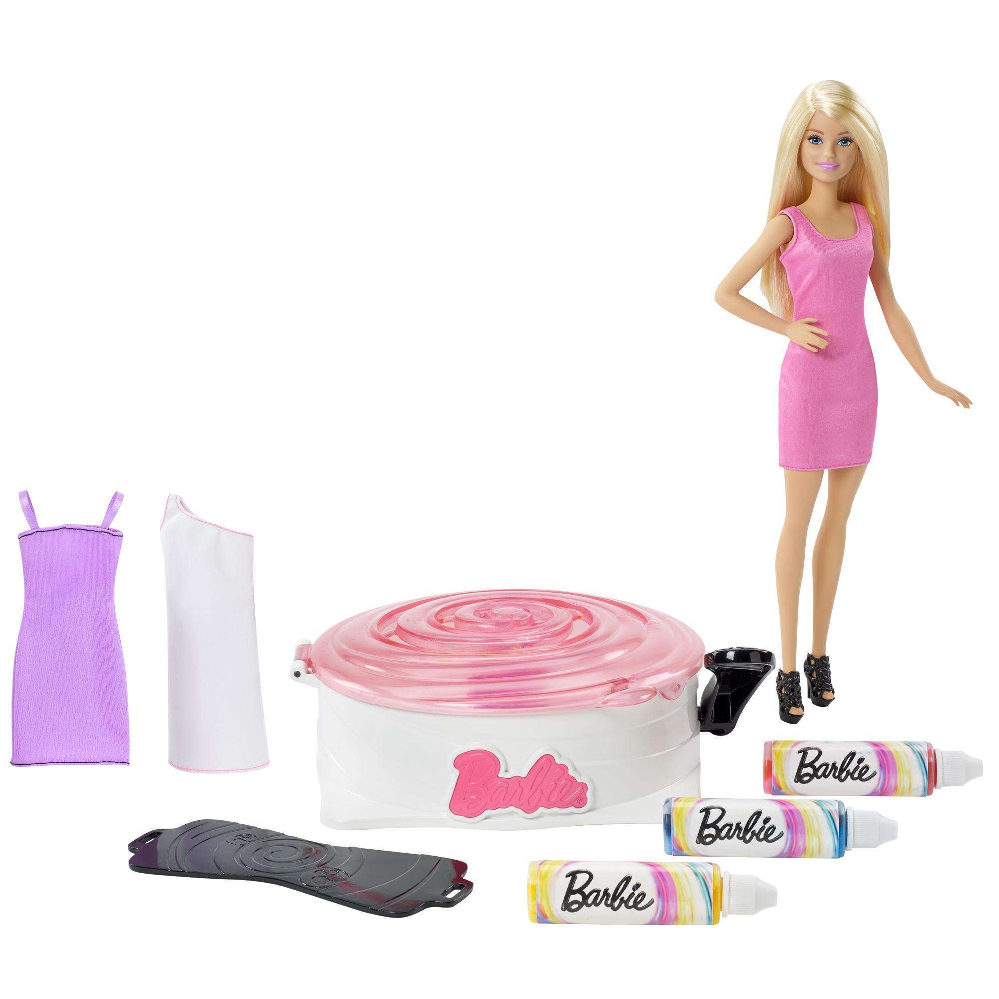 Barbie Spin Art Designer with Barbie Doll