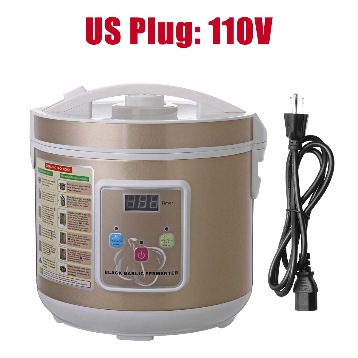 110V 90W 5L 12-15 Days Intelligent Black Garlic Fermenter Automatic Fermentation Machine by