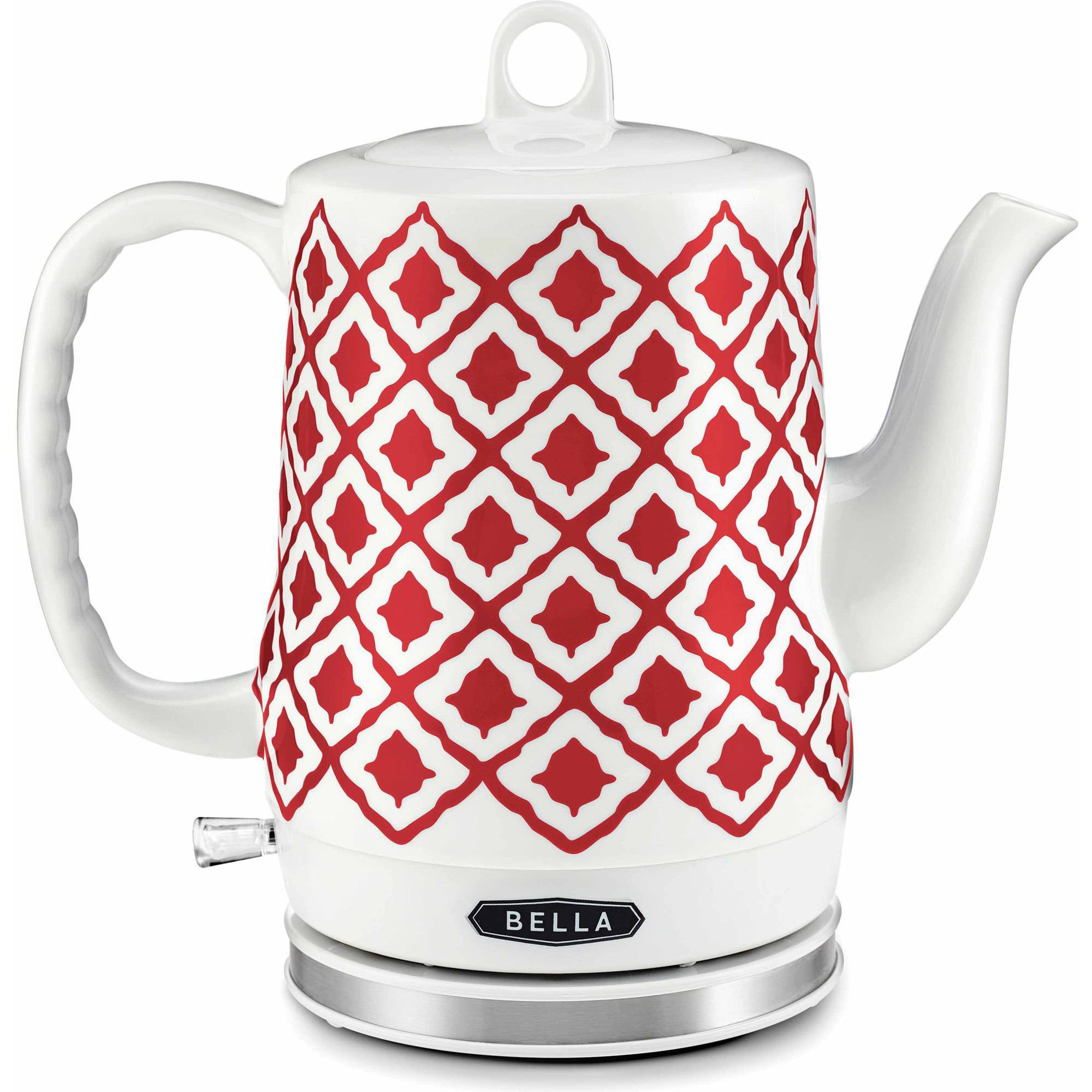 Bella Ikat 1.2-Liter Electric Ceramic Kettle, Red by Sensio