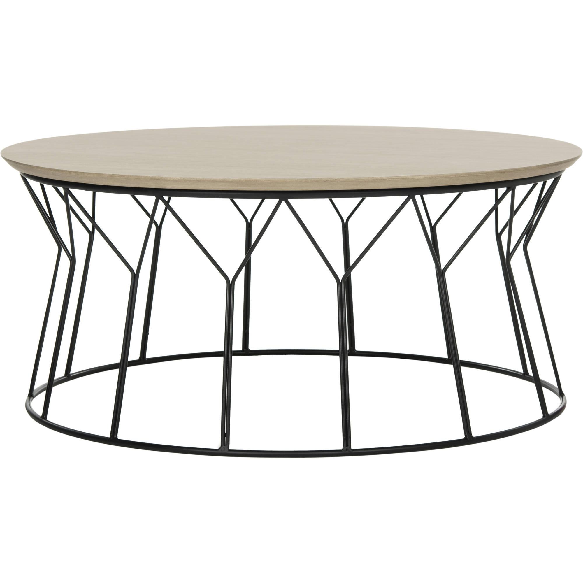 "Safavieh Deion 35"" Round Retro Mid Century Coffee Table, Multiple Colors"