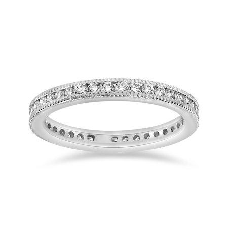 1/2ct Channel Diamond Eternity Wedding White Gold Ring