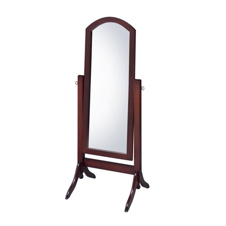 Walnut Cheval (Proman Barrington Home Living room Bedroom Decor Walnut Cheval Floor Mirror )