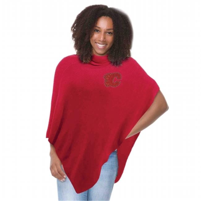 Little Earth Productions 551114-FLMS-LRED Calgary Flames Crystal Knit Poncho Light Red by Little Earth Productions