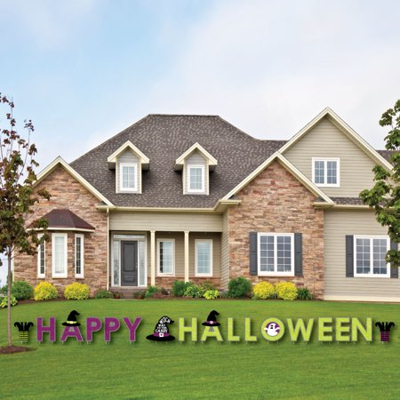 Halloween Yard.Happy Halloween Yard Sign Outdoor Lawn Decorations Witch Party Yard Signs Happy Halloween