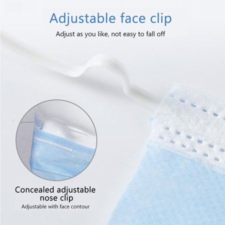 50pcs Disposable 3-Layer Protective Face Mask Anti Dust Breathable Earloop Mouth Face Mask Comfortable Sanitary Mask 50pcs/Pack Blue - image 2 of 6
