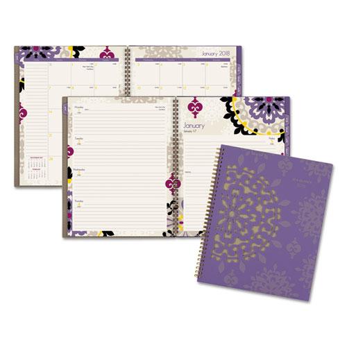 "Cambridge Vienna Weekly/Monthly Planner, 12 Months, January Start, 8 1/2"" x 11"", Purple (122-905-19)"