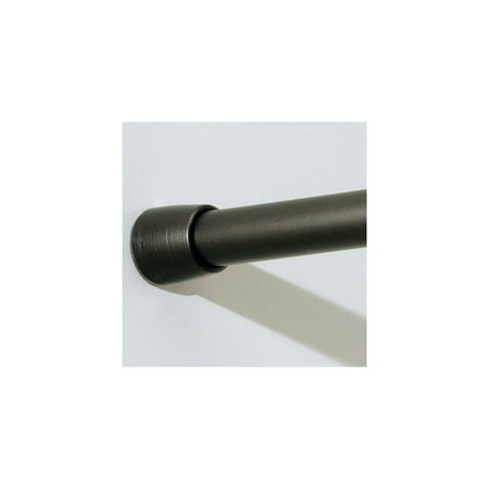 InterDesign Shower Curtain Tension Rod Matte Black Large 50 87