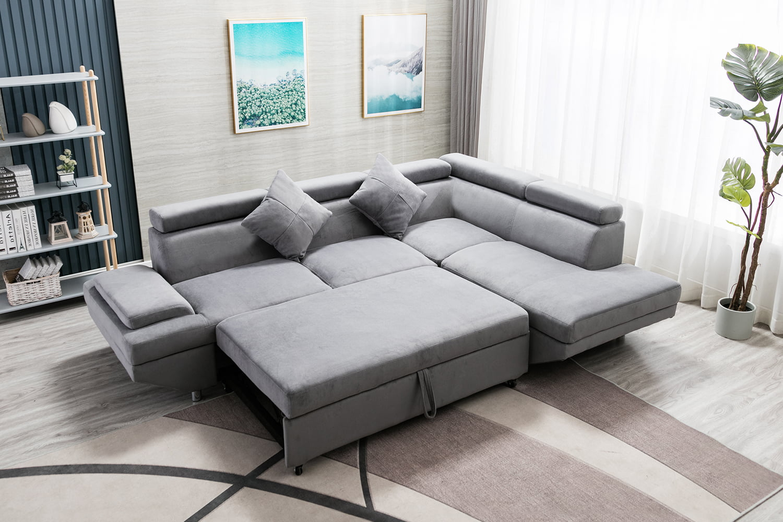 Sleeper Sofa Bed Sectional Sofa Futon Sofa Bed Sofas for Living Room  Furniture Set Modern Sofa Set Corner Sofa Contemporary Upholstered Fabric    ...