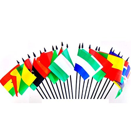 NORTHWEST AFRICAN WORLD FLAG SET--20 Polyester 4