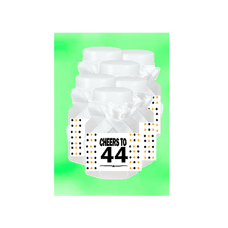 44th Birthday / Anniversary Party Favor Mini Bubbles with Wand -12pack