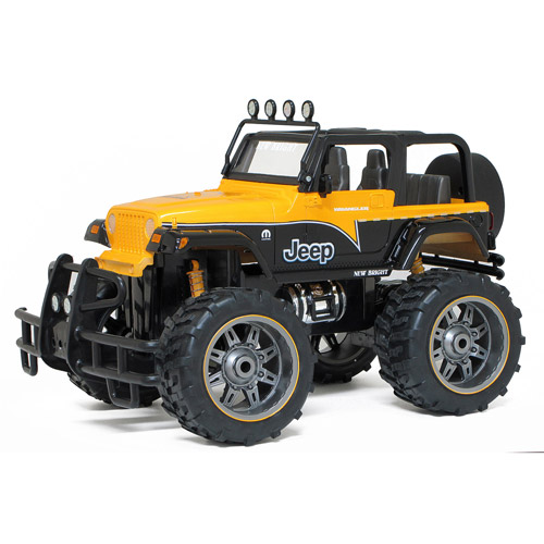New Bright 1:10 Full-Function Radio-Controlled Mopar Jeep, Yellow