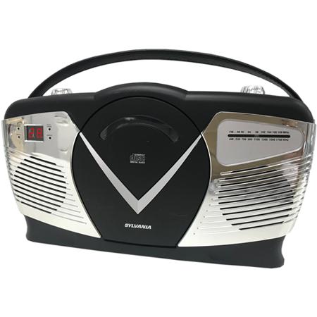 Retro Boom Box (Sylvania SRCD212-BLACK Retro-Style Portable CD Radio Boom Box Black -)