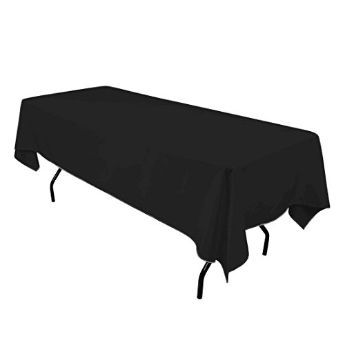 gee di moda rectangle tablecloth 60 x 102 inch black rectangular table cloth for 6 foot. Black Bedroom Furniture Sets. Home Design Ideas