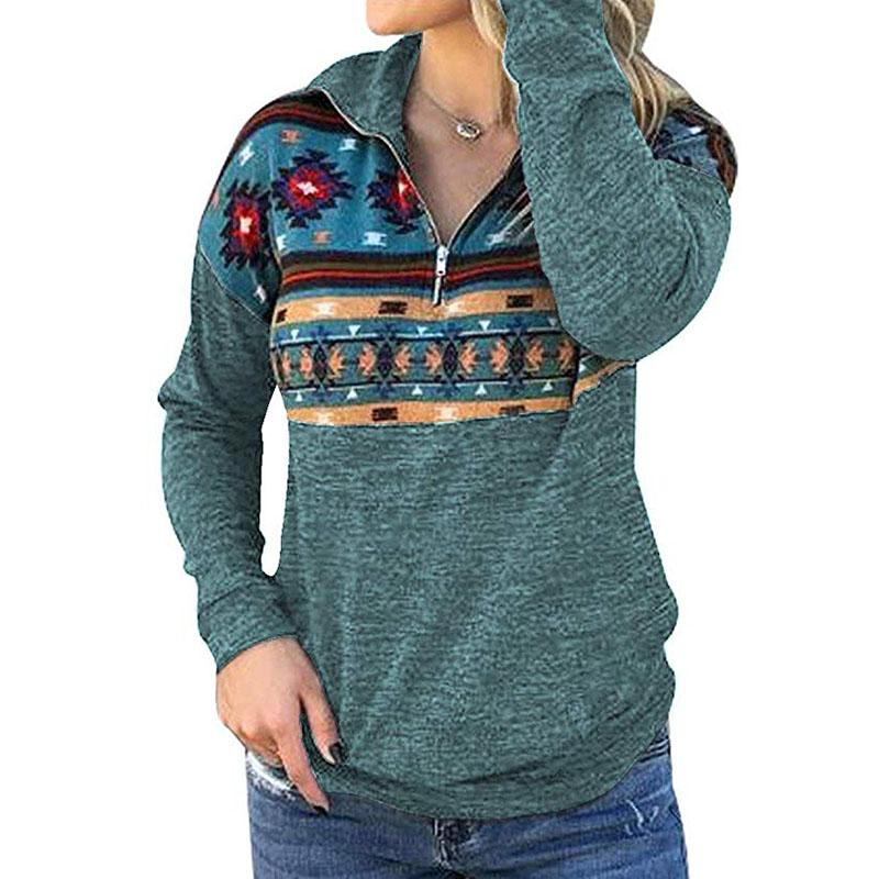 FITNEXX Womens Fashion Quarter Zipper Pullover Hoodies Long Sleeve Warm Fleece Hooded Sweatshirts Loose Tunics with Pocket