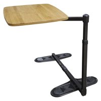 Able Life Universal Swivel TV Tray Table - Oversized Bamboo Tray + Laptop Stand