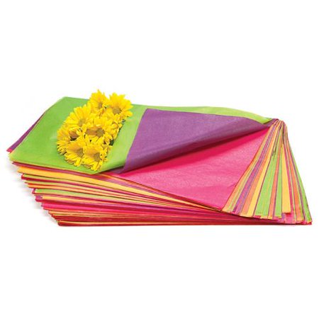 Floral Tropical Asst Waxed Tissue Paper, 400 Sheets ()