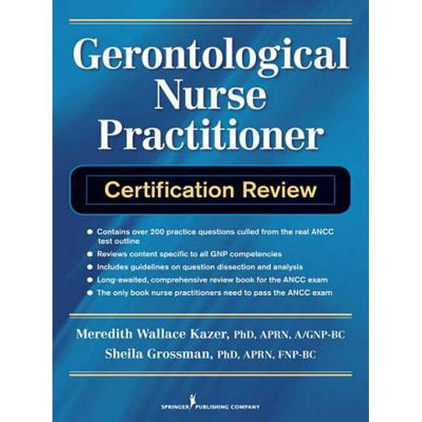 certification practitioner nurse gerontological ebook walmart