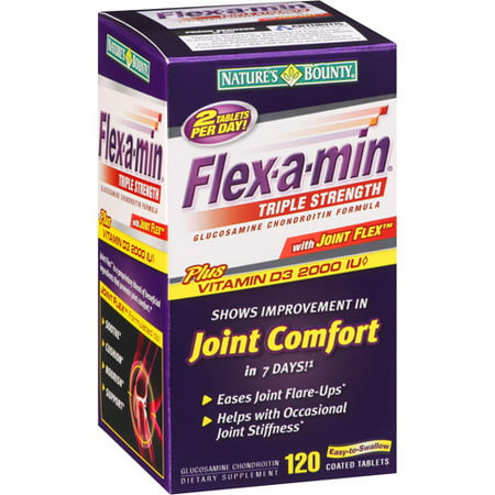 Flex-A-Min Triple Strength Glucosamine Chondroitin Formula coated tablets, 120 ct