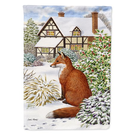 - Fox by the Cottage Garden Flag