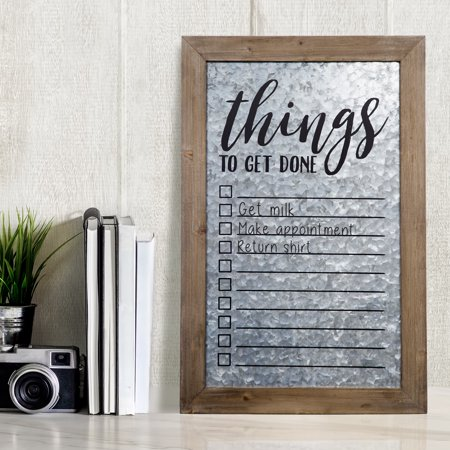 Rustic Galvanized Metal To Do List Wall Mount Whiteboard Frame Wall Mount Whiteboard