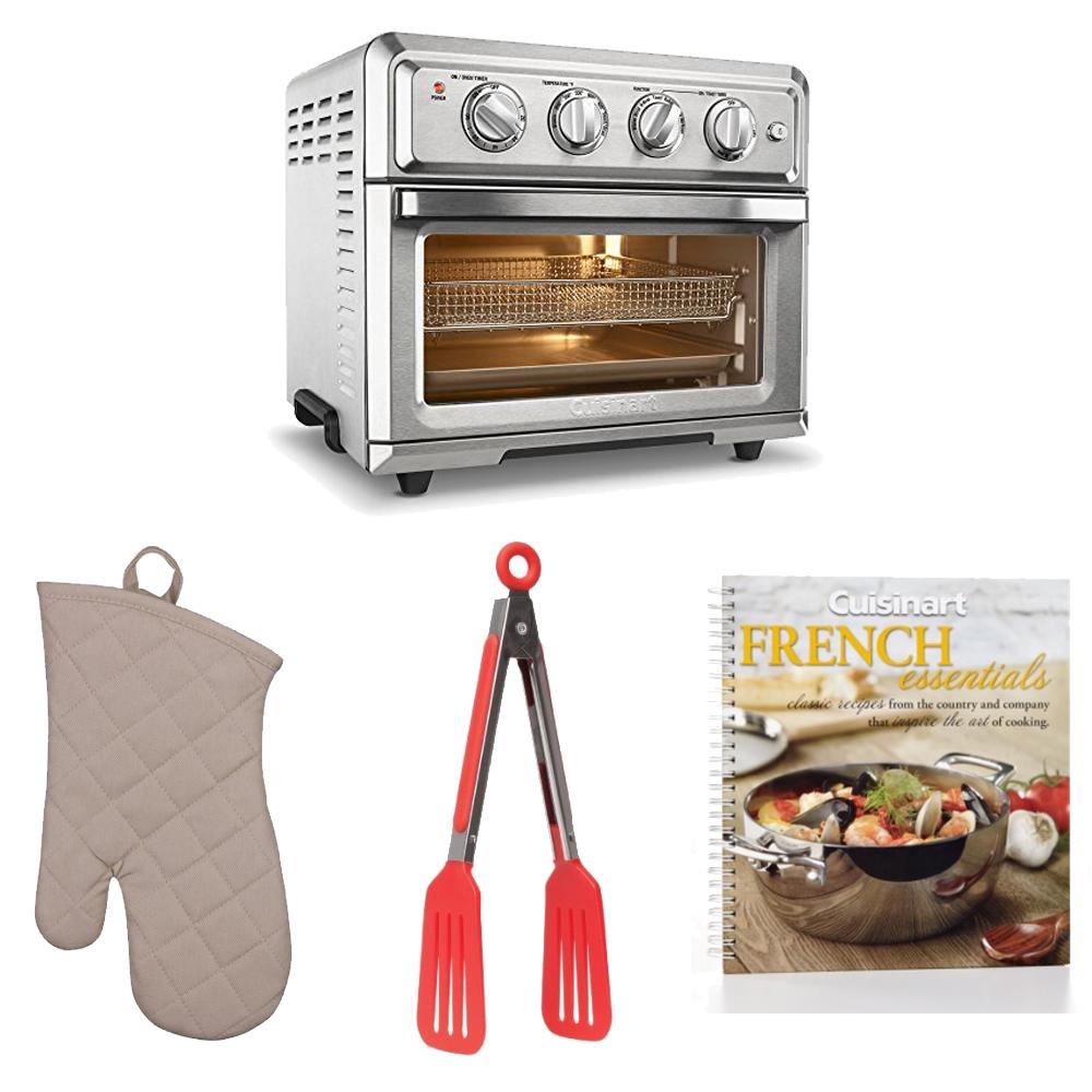 Cuisinart TOA60 Air Fryer Toaster Oven + Oven Mitt, Flipp...