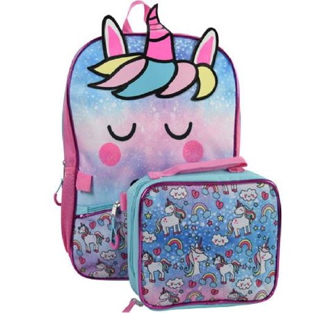 """Unicorn 16"""" Backpack with Lunch Bag"""