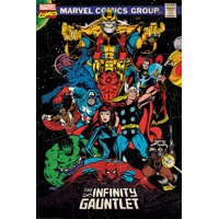 "The Avengers - Marvel Comics Poster / Print (Comic Cover: The Infinity Gauntlet) (Iron Man, Thor, Captain America, Spider-Man...) (Size: 24"" x 36"")"