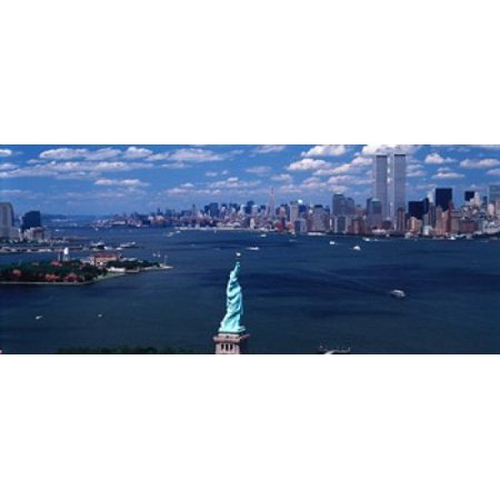 USA New York Statue of Liberty Stretched Canvas - Panoramic Images (30 x 13) Statue Of Liberty Image