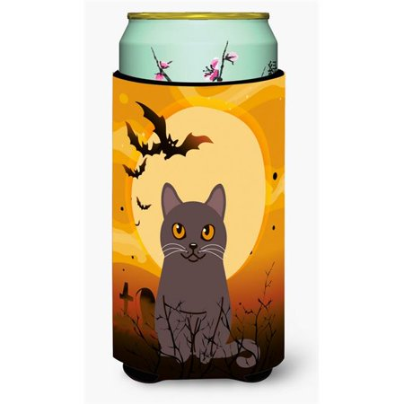 Carolines Treasures BB4443TBC Halloween Chartreux Cat Tall Boy Beverage Insulator Hugger - image 1 de 1