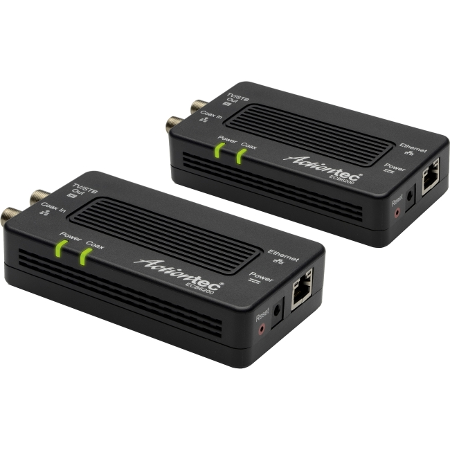 Actiontec Bonded MoCA 2.0 Network Adapter ECB6200 - media converter - Ethernet Fast Ethernet Gigabit Ethernet MoCA 2.0