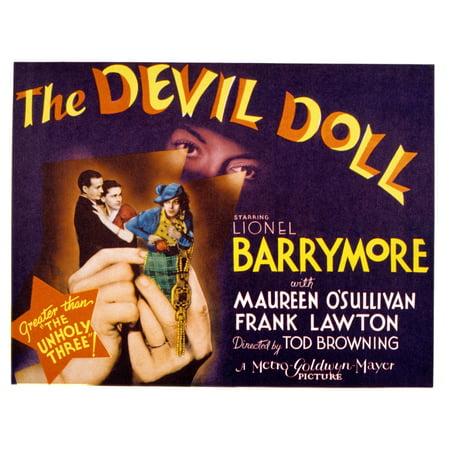 The Devil Doll Frank Lawton Maureen OSullivan Jean Alden 1936 Movie Poster (1936 Jean)