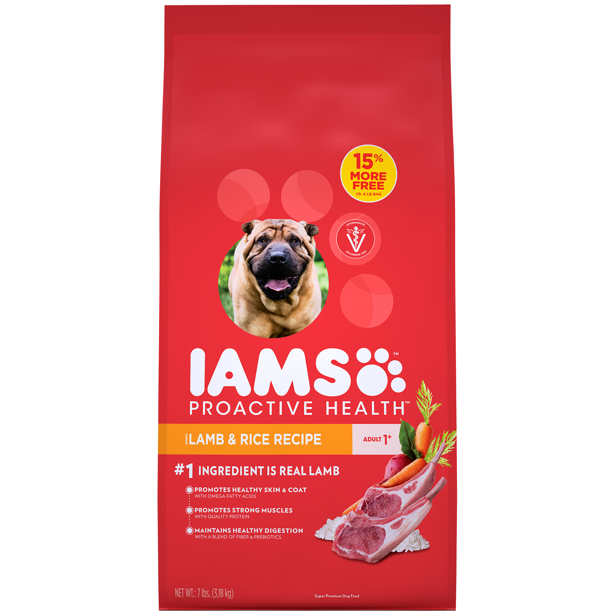 Iams Proactive Health Dry Dog Food, Lamb And Rice, 7 Lb