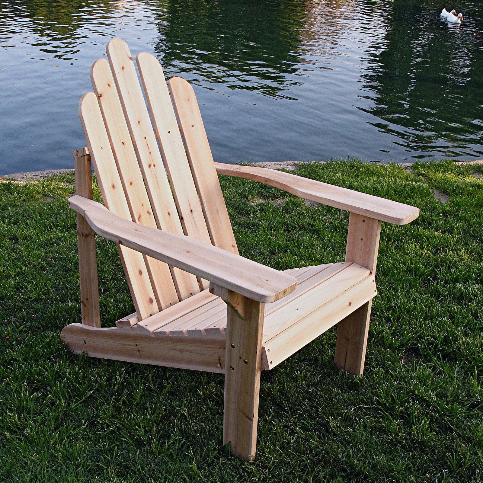Shine Company Marina Adirondack Chair Unfinished by Shine Company Inc
